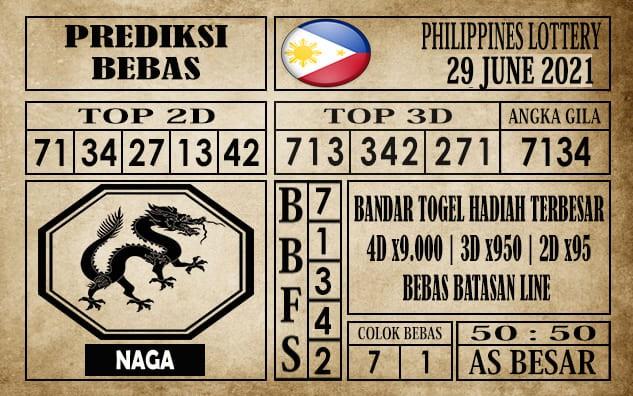 Prediksi Filipina PCSO Hari Ini 29 Juni 2021