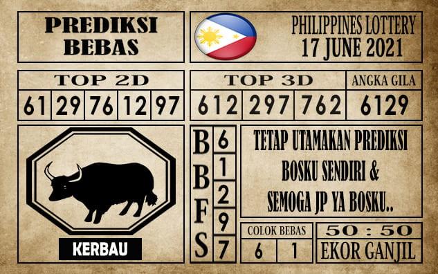 Prediksi Filipina PCSO Hari Ini 17 Juni 2021