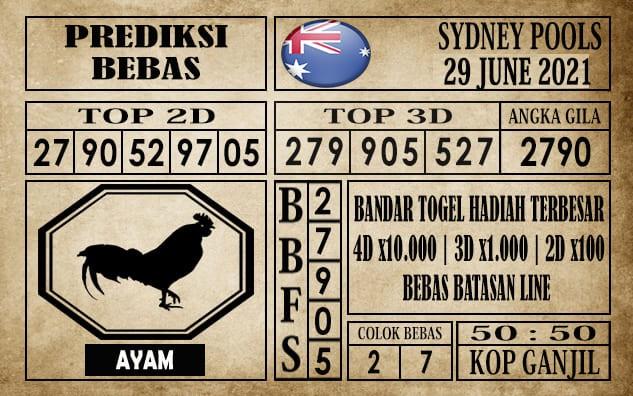 Prediksi Sydney Pools Hari Ini 29 Juni 2021