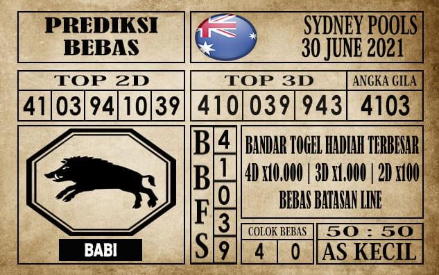 Prediksi Sydney Pools Hari Ini 30 Juni 2021