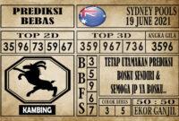 Prediksi Sydney Pools Hari Ini 19 Juni 2021