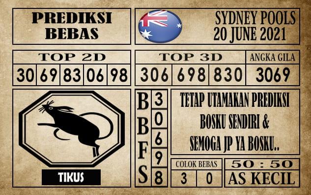 Prediksi Sydney Pools Hari Ini 20 Juni 2021