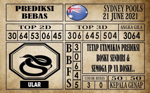 Prediksi Sydney Pools Hari Ini 21 Juni 2021
