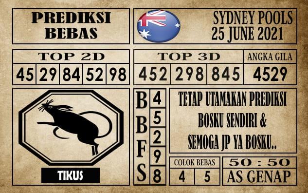 Prediksi Sydney Pools Hari Ini 25 Juni 2021