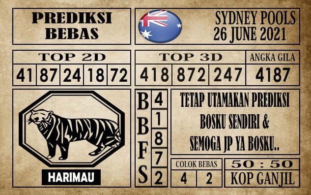 Prediksi Sydney Pools Hari Ini 26 Juni 2021