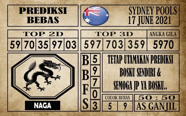Prediksi Sydney Pools Hari Ini 17 Juni 2021