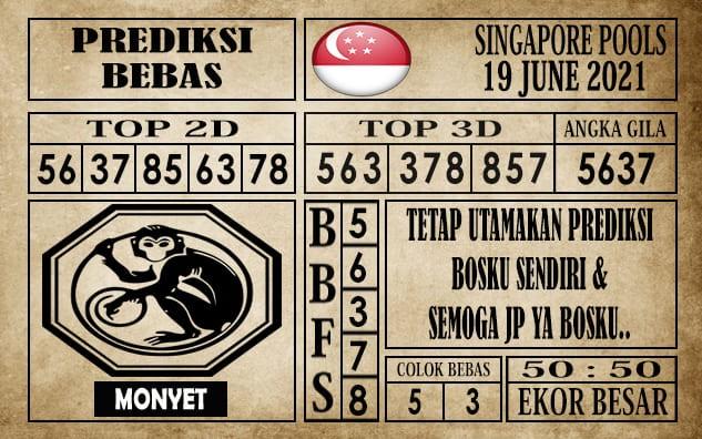 Prediksi Singapore Pools Hari ini 19 Juni 2021