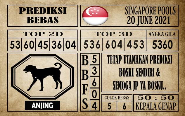Prediksi Singapore Pools Hari ini 20 Juni 2021