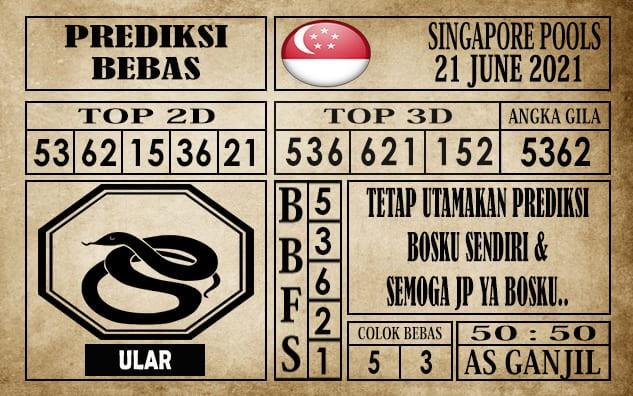 Prediksi Singapore Pools Hari ini 21 Juni 2021