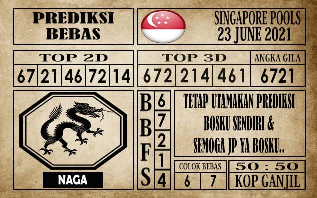 Prediksi Singapore Pools Hari ini 23 Juni 2021