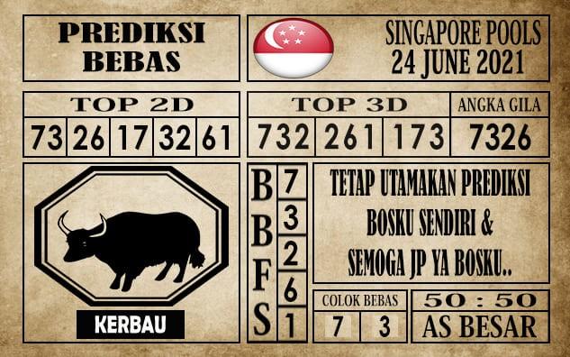 Prediksi Singapore Pools Hari ini 24 Juni 2021