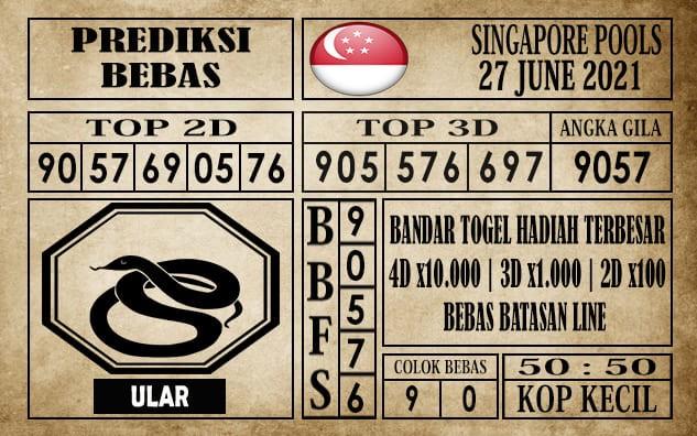 Prediksi Singapore Pools Hari ini 27 Juni 2021