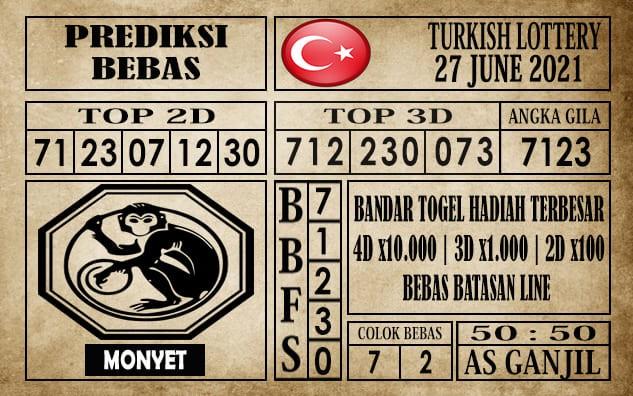 Prediksi Turkish Lottery Hari Ini 27 Juni 2021