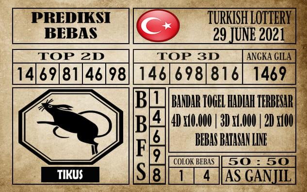 Prediksi Turkish Lottery Hari Ini 29 Juni 2021