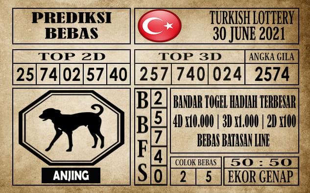 Prediksi Turkish Lottery Hari Ini 30 Juni 2021