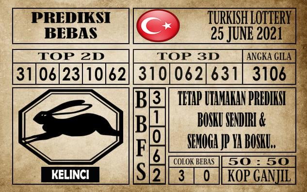 Prediksi Turkish Lottery Hari Ini 25 Juni 2021