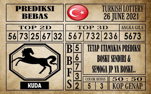Prediksi Turkish Lottery Hari Ini 26 Juni 2021