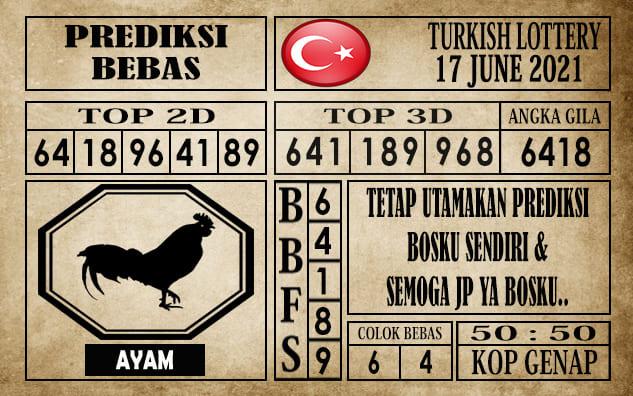 Prediksi Turkish Lottery Hari Ini 17 Juni 2021