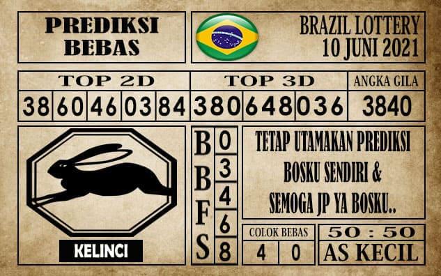 Prediksi Brazil Lottery Hari Ini 10 Juni 2021