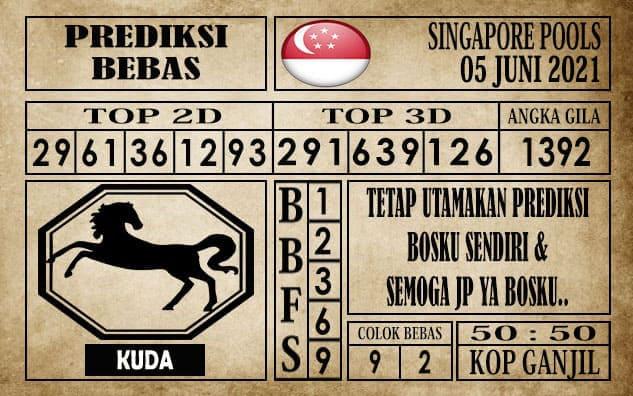 Prediksi Singapore Pools Hari ini 05 Juni 2021