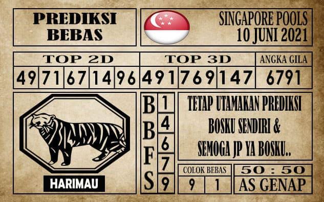 Prediksi Singapore Pools Hari ini 10 Juni 2021