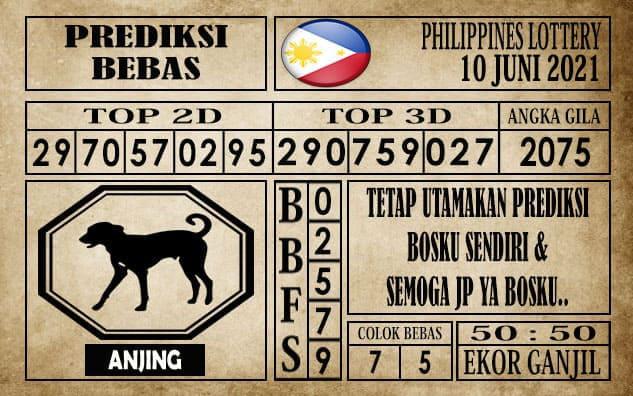 Prediksi Filipina PCSO Hari Ini 10 Juni 2021