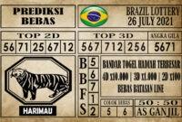 Prediksi Brazil Lottery Hari Ini 26 Juli 2021