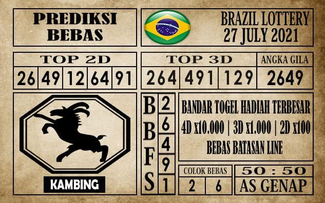 Prediksi Brazil Lottery Hari Ini 27 Juli 2021