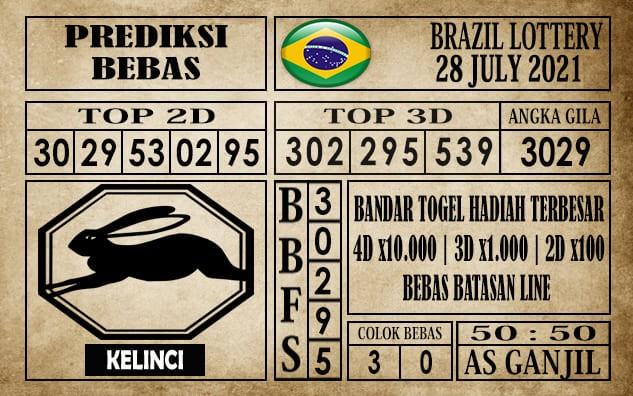 Prediksi Brazil Lottery Hari Ini 28 Juli 2021