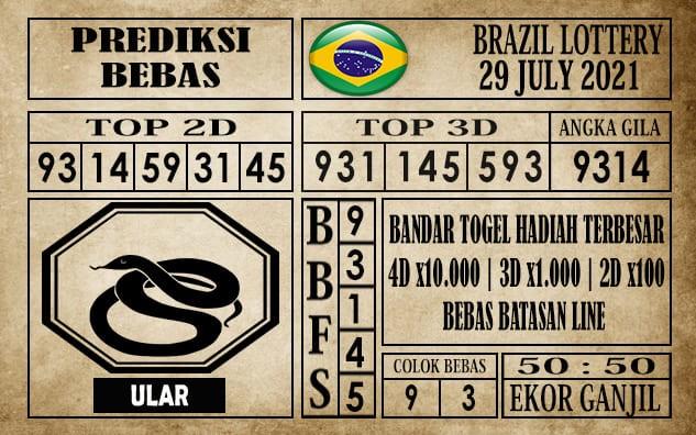 Prediksi Brazil Lottery Hari Ini 29 Juli 2021