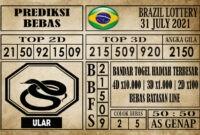 Prediksi Brazil Lottery Hari Ini 31 Juli 2021