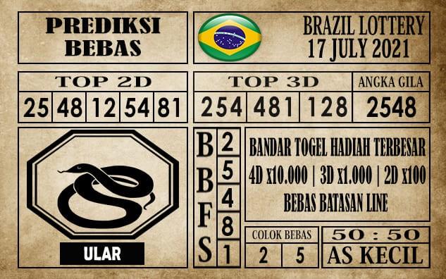 Prediksi Brazil Lottery Hari Ini 17 Juli 2021