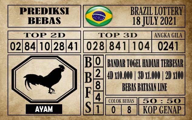Prediksi Brazil Lottery Hari Ini 18 Juli 2021
