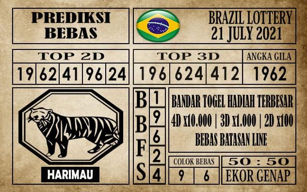 Prediksi Brazil Lottery Hari Ini 21 Juli 2021