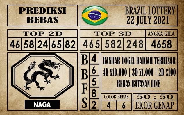 Prediksi Brazil Lottery Hari Ini 22 Juli 2021