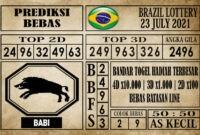 Prediksi Brazil Lottery Hari Ini 23 Juli 2021