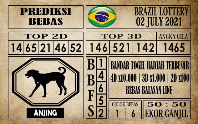 Prediksi Brazil Lottery Hari Ini 02 Juli 2021