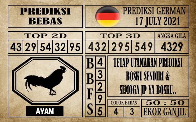 Prediksi Germany Hari Ini 17 Juli 2021