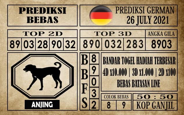 Prediksi Germany Hari Ini 26 Juli 2021