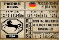 Prediksi Germany Hari Ini 29 Juli 2021