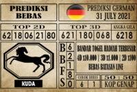 Prediksi Germany Hari Ini 31 Juli 2021