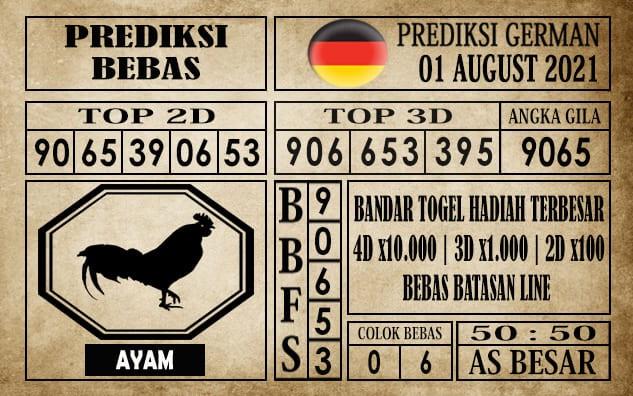 Prediksi Germany Hari Ini 01 Agustus 2021