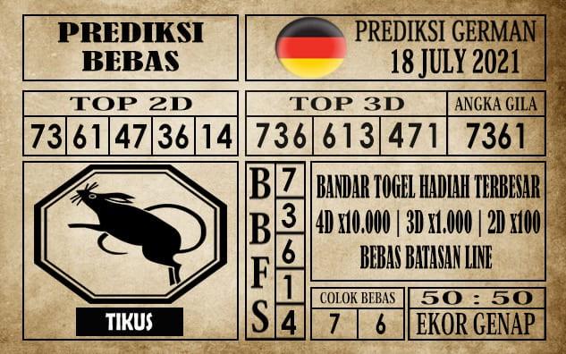 Prediksi Germany Hari Ini 18 Juli 2021