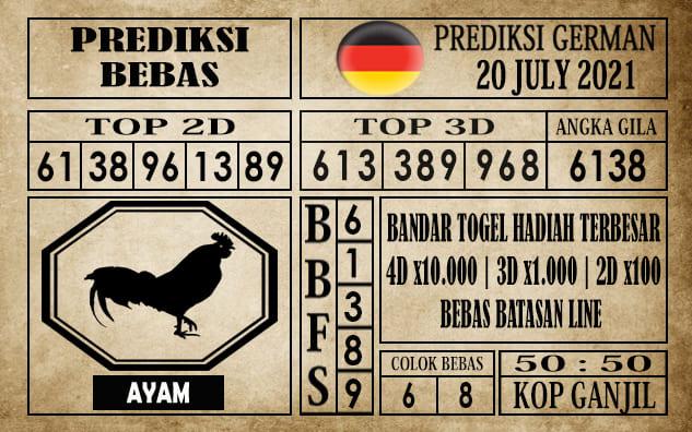 Prediksi Germany Hari Ini 20 Juli 2021
