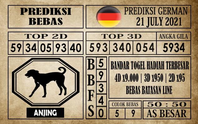 Prediksi Germany Hari Ini 21 Juli 2021