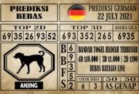Prediksi Germany Hari Ini 22 Juli 2021