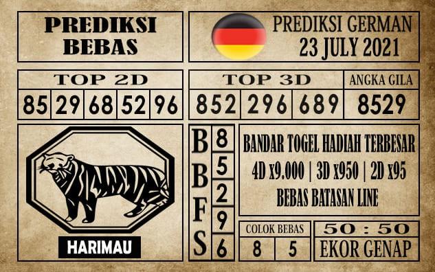 Prediksi Germany Hari Ini 23 Juli 2021