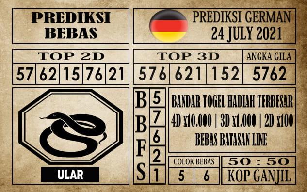 Prediksi Germany Hari Ini 24 Juli 2021