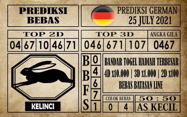 Prediksi Germany Hari Ini 25 Juli 2021