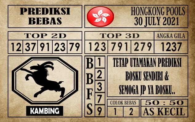 Prediksi Hongkong Pools Hari Ini 30 Juli 2021